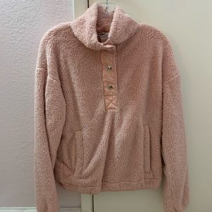 Pink F21 Fluffy Pullover